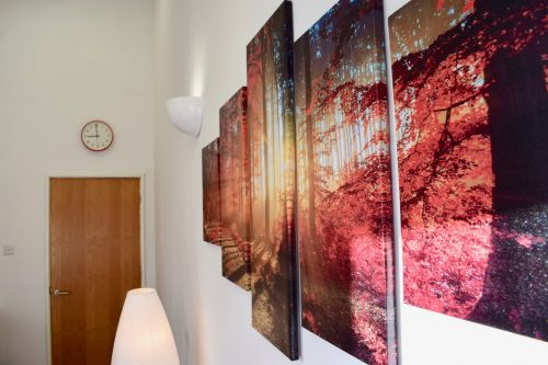 Photograph from Room 2 showing the artwork on the wall